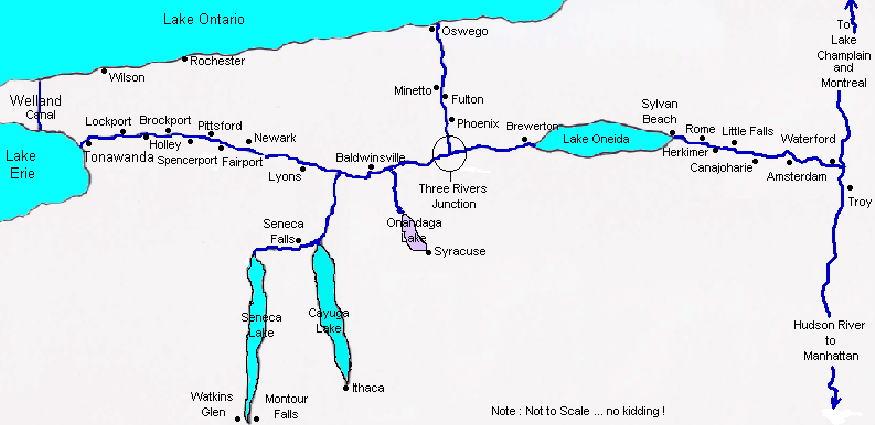 Cruising New York State Canal System Erie Cayuga Seneca: New York Canal System Map At Slyspyder.com