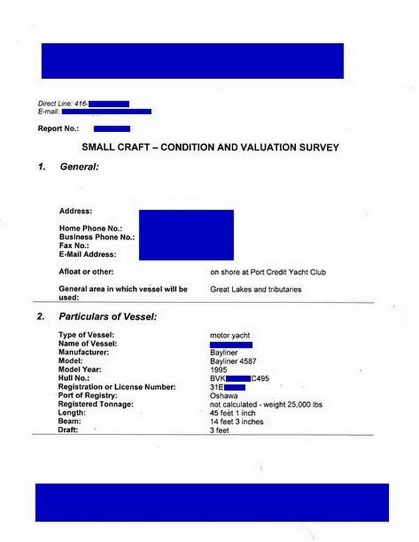 7a0c95a1ddd Sample example of marine survey report, compared Bill Provis, Marine  Surveyor, Granite Solutions